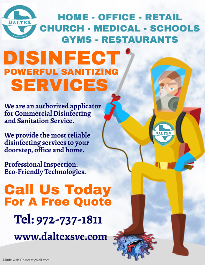 covid-19 cleaning in Dallas Texas, sanitizing service and disinfecting service for residential and commercial